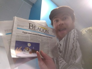 Beacon flys West